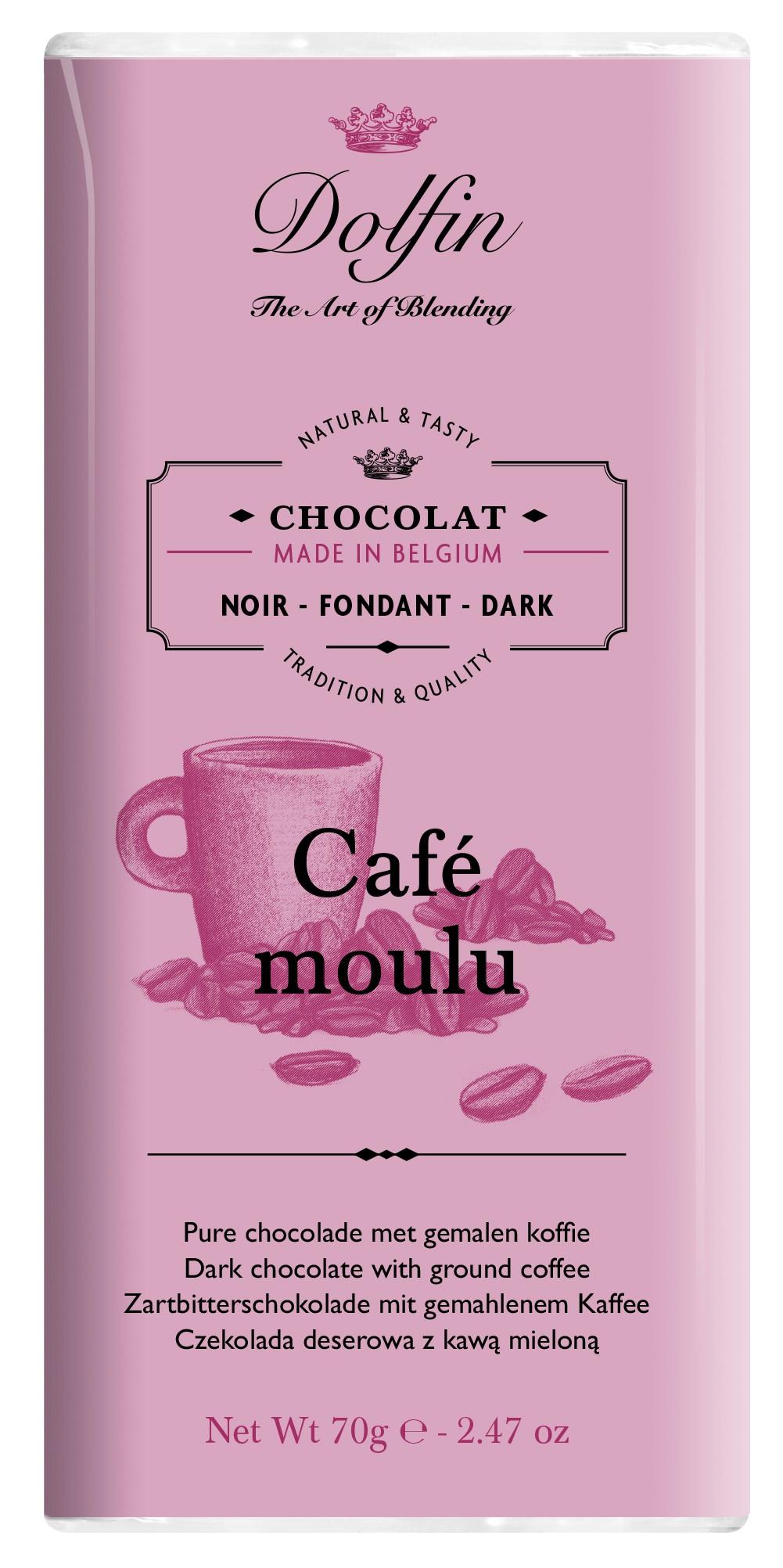 Tmavá čokoláda s mletou kávou, 70g
