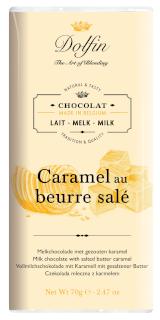 Mliečna čokoláda so slaným karamelom