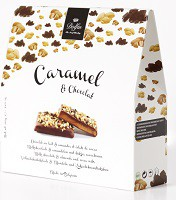 Caramel et Chocolat, milk chocolate & almonds and cocoa nibs